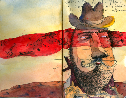 On the Dusty Plains a Cowboy Dreams...